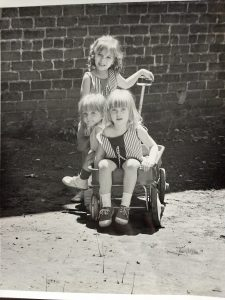 adoption in the 1940s | three sisters in a wagon